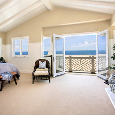 Beach Style Bedroom by Premier Home Staging and Interiors, LLC