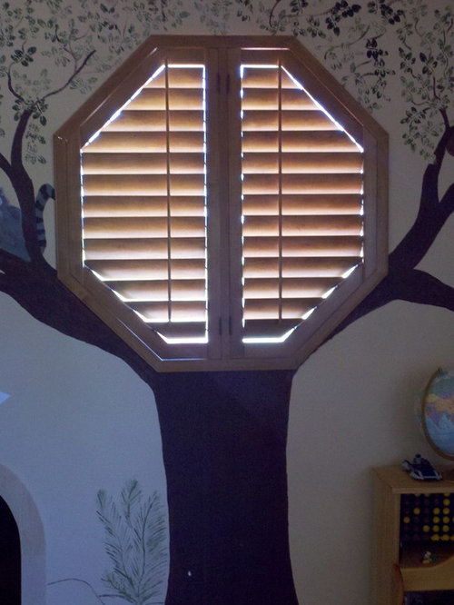 Octagon Window Covering Houzz