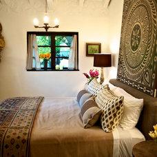 Mediterranean Bedroom by Hunter Design
