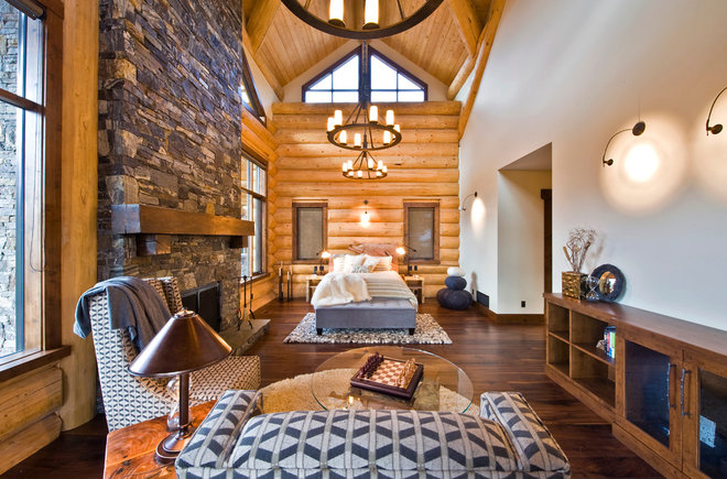 Rustic Bedroom by Sticks and Stones Design Group Inc
