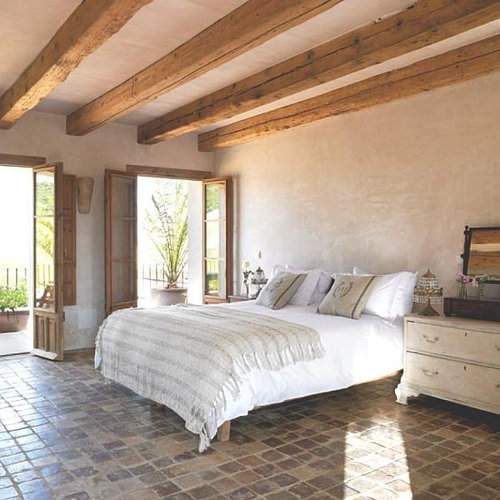 terracotta floor bedroom design ideas renovations photos