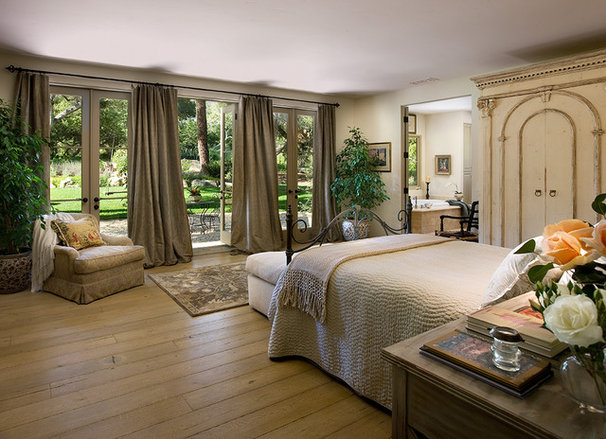 Mediterranean Bedroom by J. Grant Design Studio