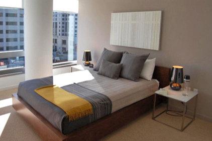 Modern Bedroom by W. David Seidel, AIA - Architect