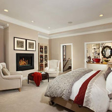 Contemporary Bedroom by Laura Manning Bendik