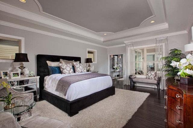 Contemporary Bedroom by Laura Manning Bendik