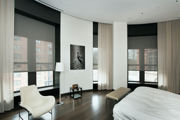 Modern Bedroom by New York Window Fashion