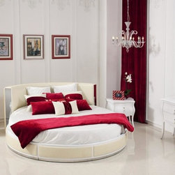 Ophelia - Modern Round Leather Bed - Features