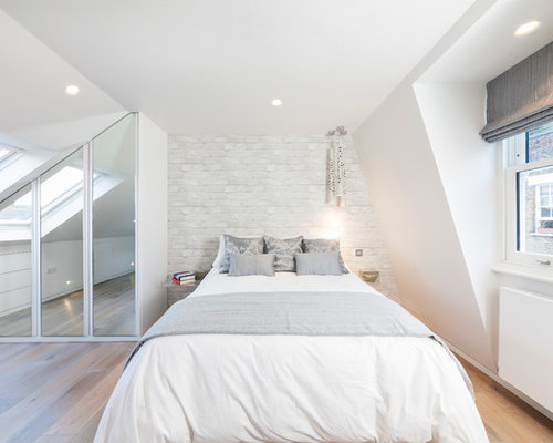 Wardrobes under eaves houzz for Eaves bedroom ideas