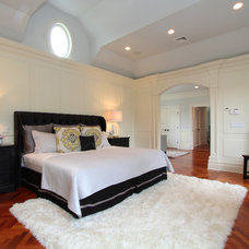 Transitional Bedroom by Birgit Anich Staging & Interiors