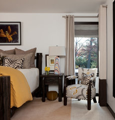 eclectic bedroom by Ashley Campbell Interior Design