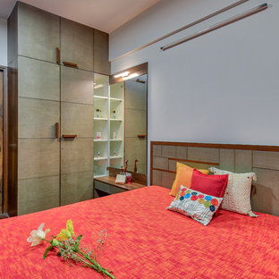 Inspiration for a contemporary bedroom in Ahmedabad.