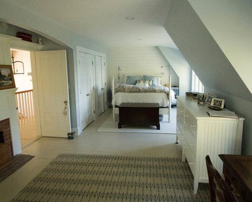 gr ne schlafzimmer mit kaminsims aus backstein ideen design houzz. Black Bedroom Furniture Sets. Home Design Ideas