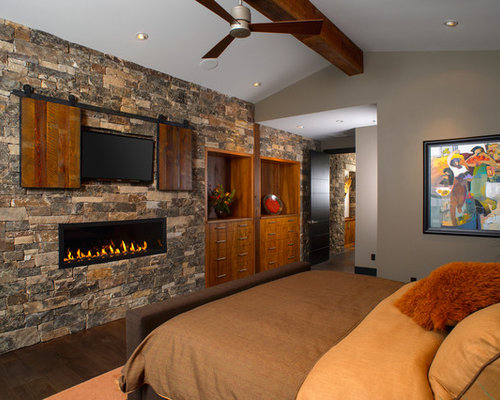 Fireplace Rock rock wall fireplace | houzz
