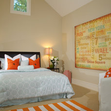 Transitional Bedroom by Lisa Benbow - Garnish Designs