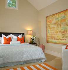 contemporary bedroom by Lisa Benbow - Garnish Designs
