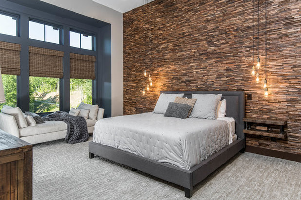 Rustic Bedroom by Living Stone Design + Build