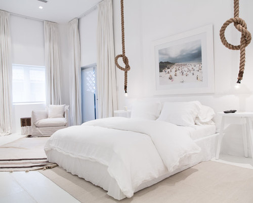 Rope light houzz for Camere da letto bianche