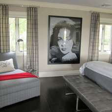 Contemporary Bedroom by Anne Tarasoff Interiors