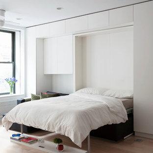 Idéer för små funkis sovrum, med vita väggar