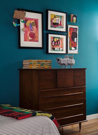 Eclectic Bedroom by Christy Allen Designs