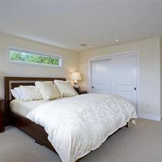 Contemporary Bedroom Over bed window
