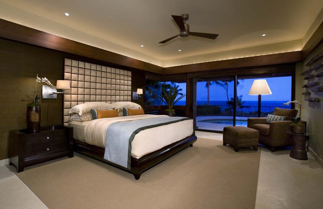 Tropical Bedroom by Ownby Design