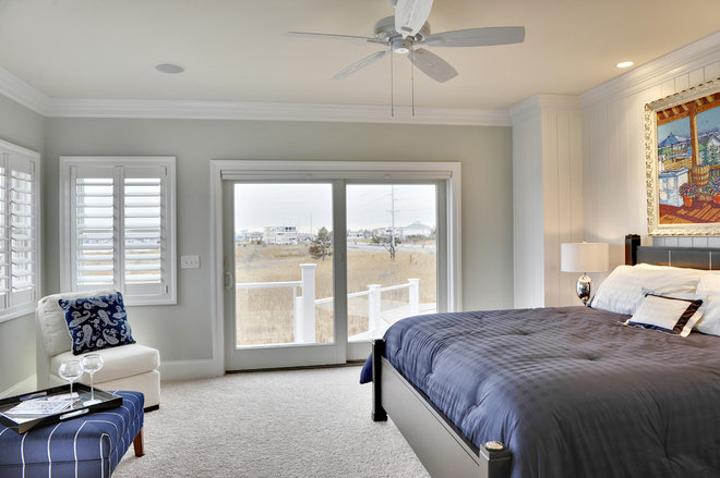 beach style bedroom by Echelon Custom Homes