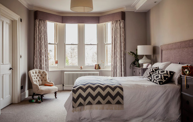 Transitional Bedroom by JOHNSTON PARKE INTERIORS
