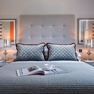 Design Ideas For A Small Contemporary Bedroom In Surrey.