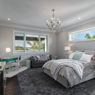 Example of a trendy bedroom design in Tampa