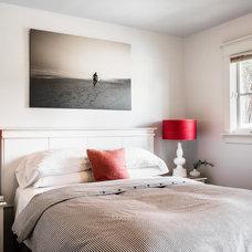 Transitional Bedroom by christie hausmann design