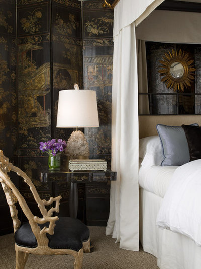 Eclectic Bedroom by Cecilie Starin Design Inc.