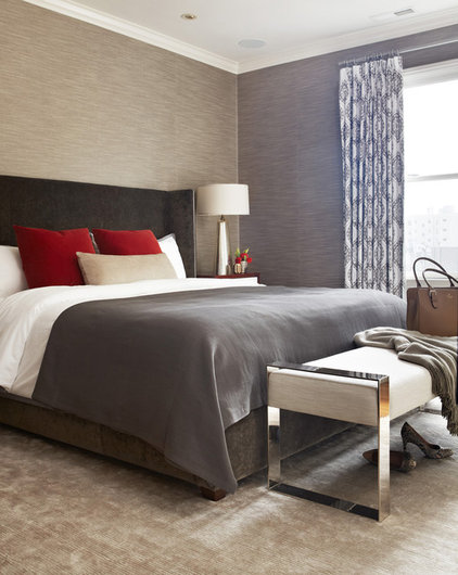transitional bedroom by Niche Interiors