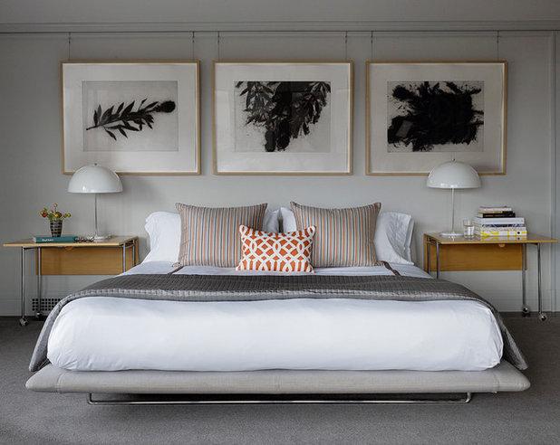 Transitional Bedroom by JKA Design
