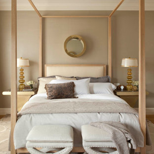 Photo of a transitional bedroom in San Francisco with beige walls.