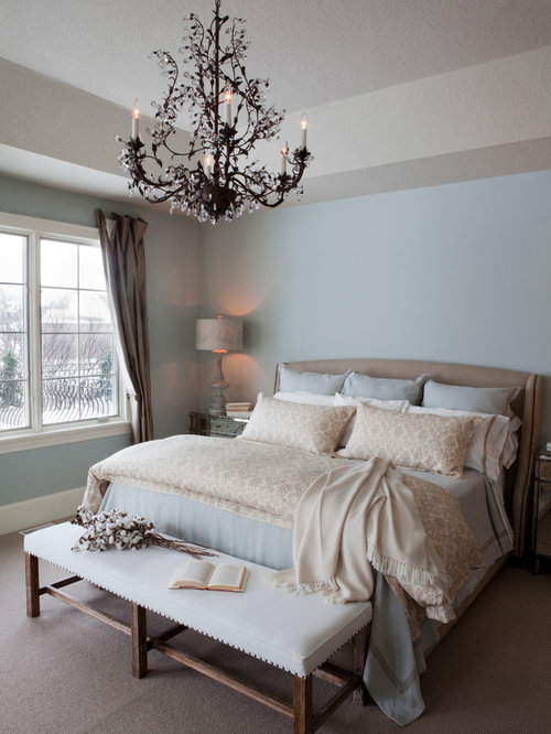 Idee e foto di camere da letto shabby chic style Master bedroom ideas in blue