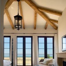Mediterranean Bedroom by Chris Barrett Design