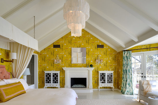 Fire Away 6 Ways Fireplaces Can Wow With Wallpaper