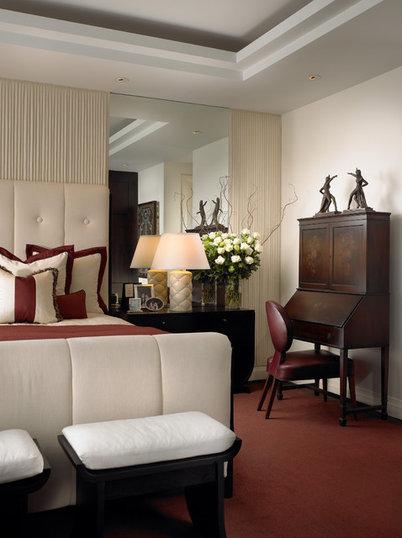 Contemporary Bedroom by alene workman interior design, inc