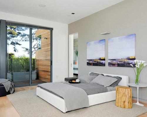 Contemporary Chair Rail Molding Bedroom Design Ideas