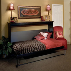 Panel Beds - Cosmopolitan Panel Bed in Black Woodgrain Finish with Sunrise Doors