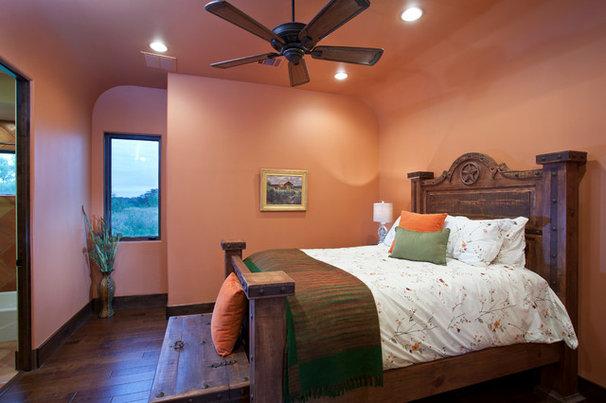 Southwestern Bedroom by Bella Villa Design Studio