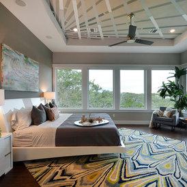 contemporary bedroom by Pillar Custom Homes, Inc.