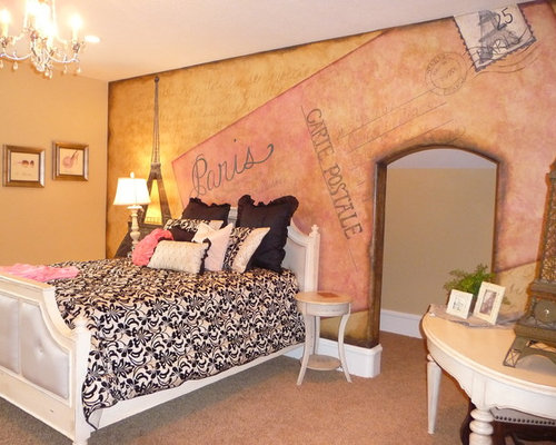 Paris theme bedrooms ideas pictures remodel and decor for Themed bedroom wallpaper
