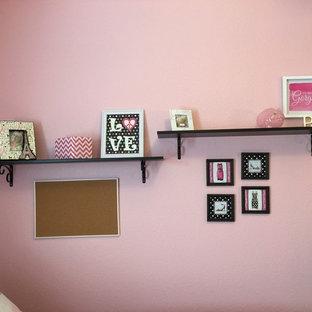 ヒューストンの中サイズのコンテンポラリースタイルのおしゃれな寝室のインテリア