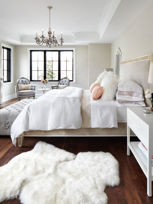 Inspiration For A Timeless Master Medium Tone Wood Floor And Brown Floor  Bedroom Remodel In Toronto