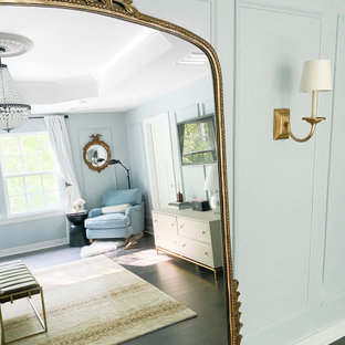 Parisian Style Blue Master Bedroom