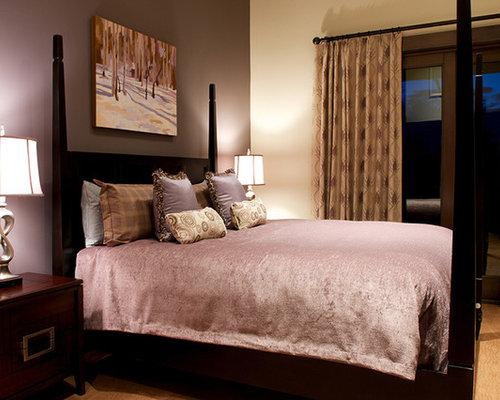 rustic bedroom design purple color scheme   Best Rustic Bedroom with Purple Walls Design Ideas ...