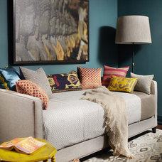 Eclectic Bedroom by Lisa Ferguson Interior Design