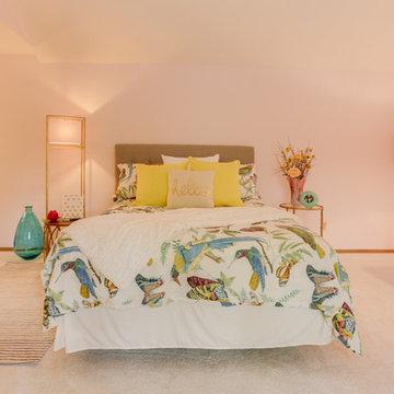 Pastel Pink Guest Room